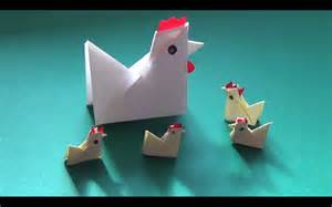 how to fold yourself a paper chicken in less than five minutes falte dir dein papier huhn