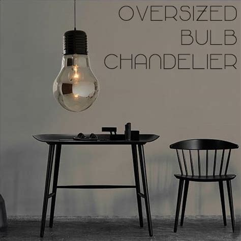 Oversized Pendant Lights Oversized Bulb Pendant Light Tudo Co Tudo And Co