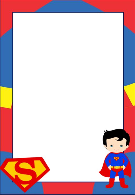 Superman Card Template by Here Some Free Printable Superman Invitations Cards Or