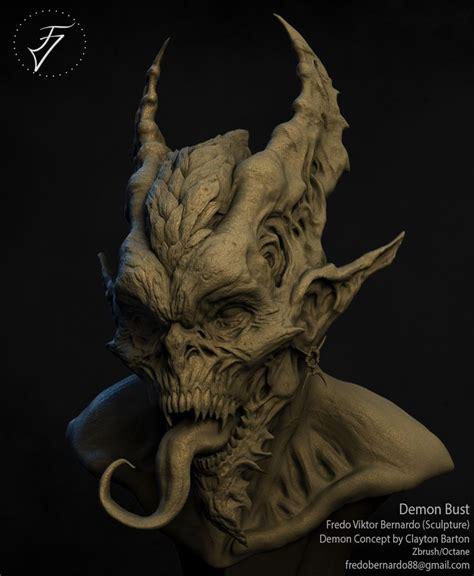 tattoo inspiration demon demon bust fredo viktor on artstation at https www