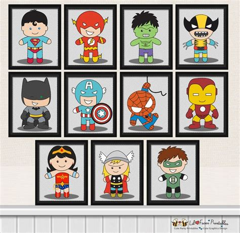 Printable Superhero Poster | 11x superhero digital art prints printable pop art
