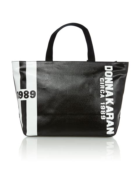 Dkny Kanvas dkny canvas logo black tote bag in black lyst