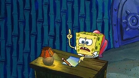 Spongebob Doing Essay by The 17 Things You Think During A Boring Lecture The Boola
