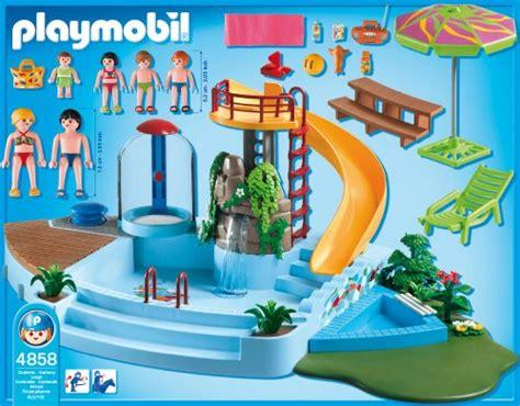playmobil kleines haus playmobil 4858 pool with water slide at shop ireland