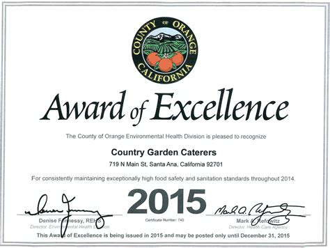 Tax Credit Award Letter 2014 our facility orange county premiere venue for weddings
