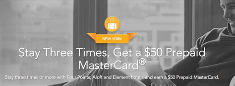 Aloft Gift Card - 3 stays at aloft four points element hotels earn a 50 mastercard gift card