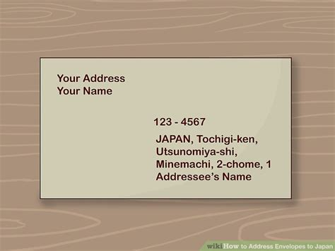 3 Ways To Address Envelopes To Japan Wikihow 3 5 8 X 6 1 2 Envelope Template