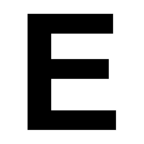 Black Letter Meaning E In Letter Clipart Best