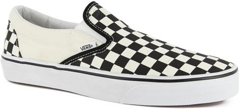 vans s classic slip on shoes black and white