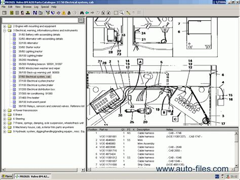 Spare Part Volvo volvo construction equipment prosis 2011