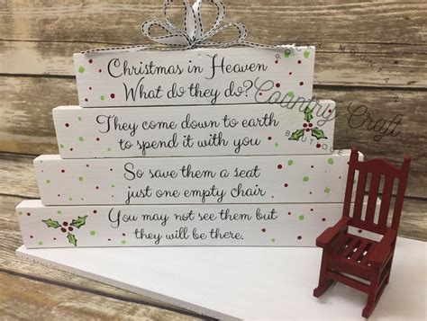 christmas in heaven craft in heaven with rocking chair by rockymtncountrycraft