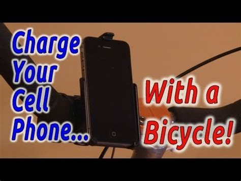charge your phone charge your cell phone with a bicycle youtube