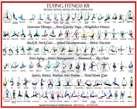 yoga swing workout flying fitness 101 omni gym aerial yoga pose poster