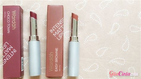 Harga Wardah Matte Lipstick Easy Brownie wardah matte lipstick shade no 5 easy brownie