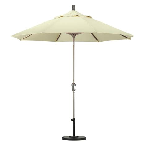 Aluminum Patio Umbrellas California Umbrella 9 Ft Aluminum Auto Tilt Patio Umbrella In Green Olefin Ata908117 F08