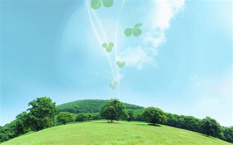 wallpaper for green environment eco concept and photo manipulation of environment and