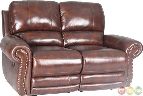 parker leather sofa parker living thor tobacco brown leather reclining sofa