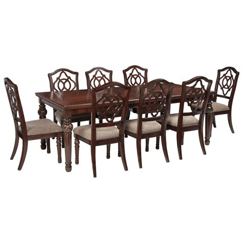Signature Design By Ashley Leahlyn 9 Piece Rectangular 9 Dining Table Set
