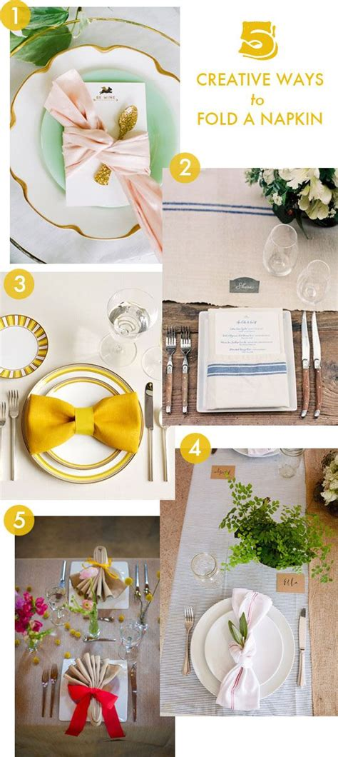 Creative Ways To Fold Paper Napkins - 5 creative ways to fold a napkin tablescapes