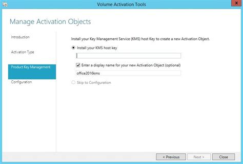 install windows 10 key on kms server configure kms server for ms office 2016 volume activation