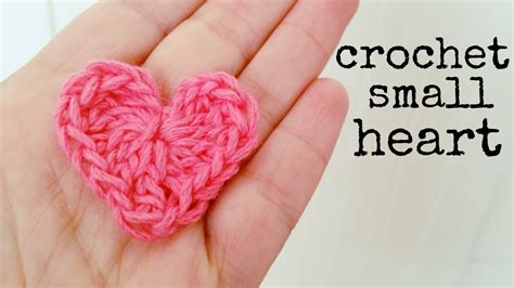 how to crochet a heart small size crochet lovers youtube