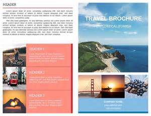 tourist brochure template free travel brochure templates exles 8 free templates