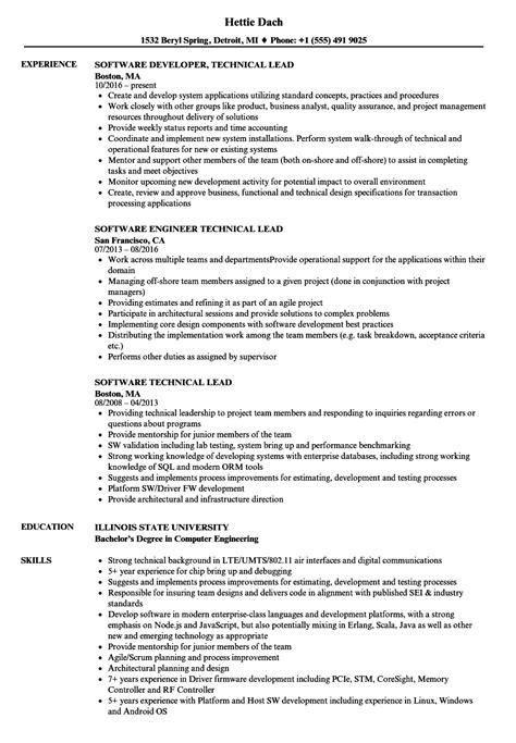 sle resume technical team leader team lead resume gecce tackletarts co
