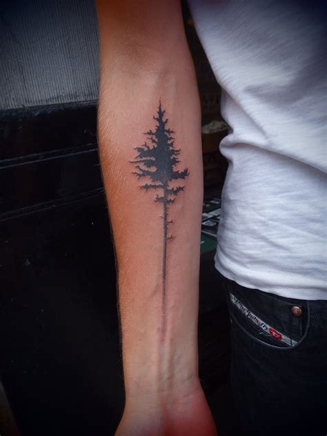 tree tattoos pine tree tattoos