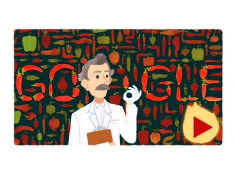 wilbur scoville doodle honors wilbur scoville creator of the