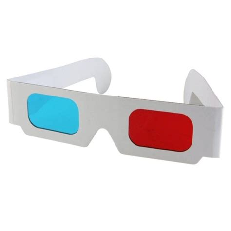 How To Make 3d Glasses Out Of Paper - 3d glasses blue cyan paper card 3 d anaglyph glasses