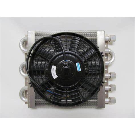 oil cooler with fan heavy duty dual circuit oil cooler electric fan maxi cool