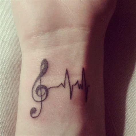 tattoo heartbeat music music tattoo