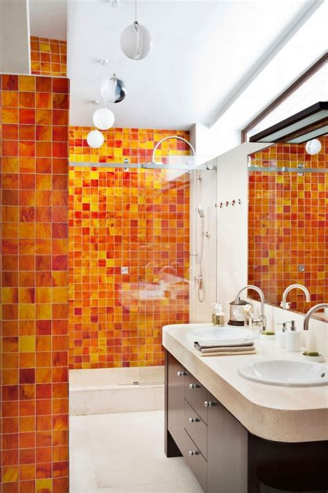 orange and yellow bathroom bathroom splashy accent wall for bathroom decoroption
