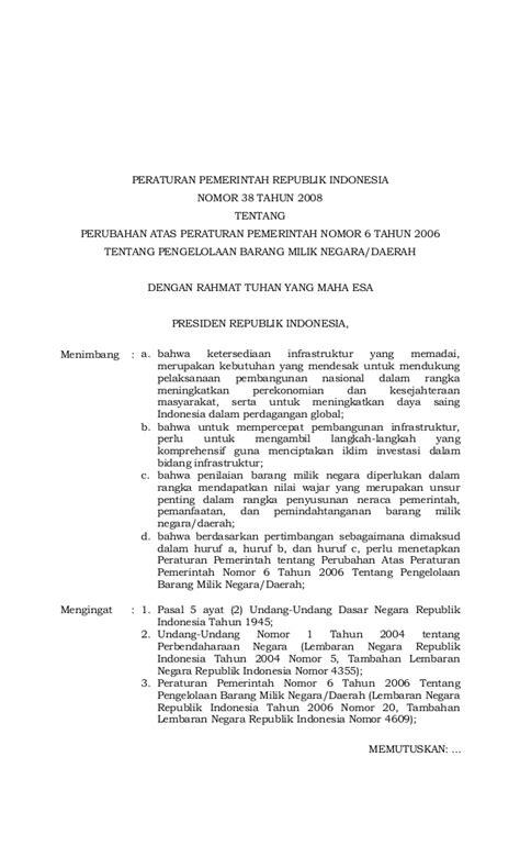 Himpunan Peraturan Kepegawaian Negara Republik Indonesia Tahun 2008 peraturan pemerintah no 38 tahun 2008 tentang perubahan atas peratur