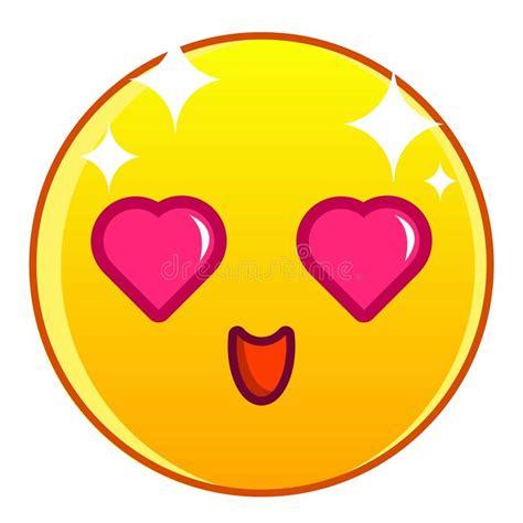 imagenes del emoji enamorado icono amarillo enamorado del emoticon estilo de la