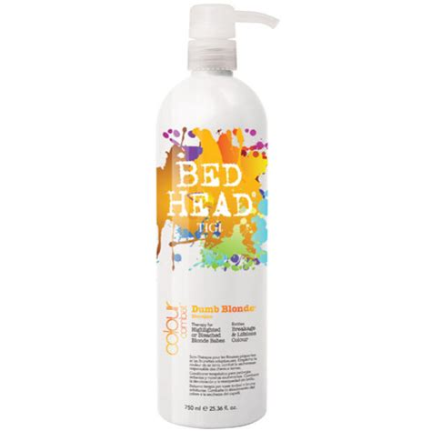 bed head dumb blonde tigi bed head colour combat dumb blonde shoo 750ml