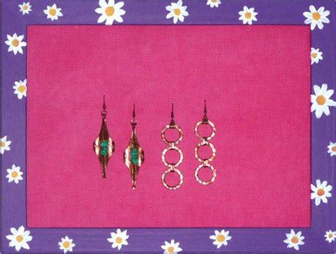 come creare un porta orecchini porta orecchini da parete creare 123