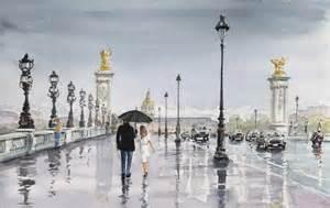 pont iii sous la pluie sold michel colson