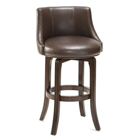 brown bar stools leather napa valley 25 quot swivel counter stool in brown 4294 827i