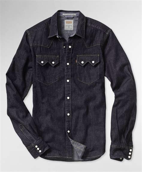 Original Levis Sawtooth Western Shirt Kemeja Black levi s sawtooth western shirt stonewash western