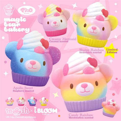 squishy ibloom foxy foox magic bakery squishy from mooosh x i bloom company japan