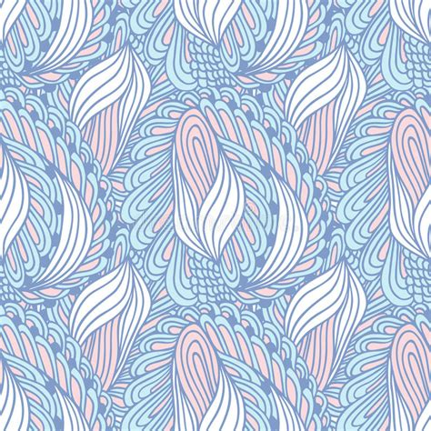 seamless doodle pattern free vector hand drawn swirl fashion seamless pattern doodle stock