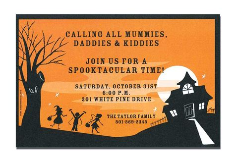 halloween housewarming party invitation wording festival collections