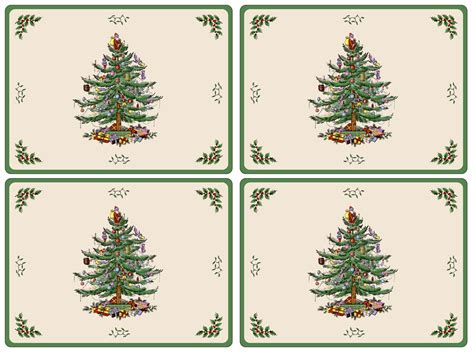 placemats com pimpernel christmas tree placemats