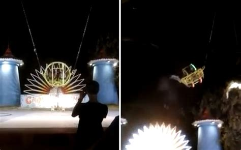 theme park ride breaks caught on camera theme park ride breaks sends riders
