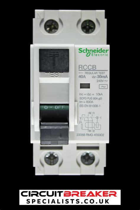 Schneider Electric Id Rccb 16252 schneider electric 40 10ka 30ma pole rccb rcd