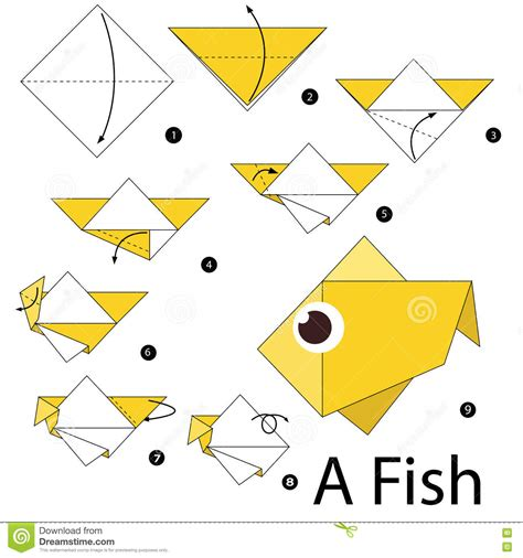 How To Make Fish From Paper - step by step how to make origami a fish