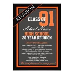 high school reunion invitation templates formal high school reunion 5x7 paper invitation
