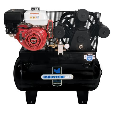 industrial air 30 stationary gas air compressor with electric start