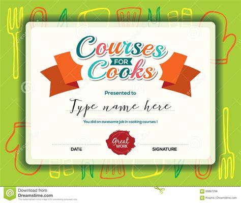 cooking certificate template santa claus certificate template free blank invoices printable